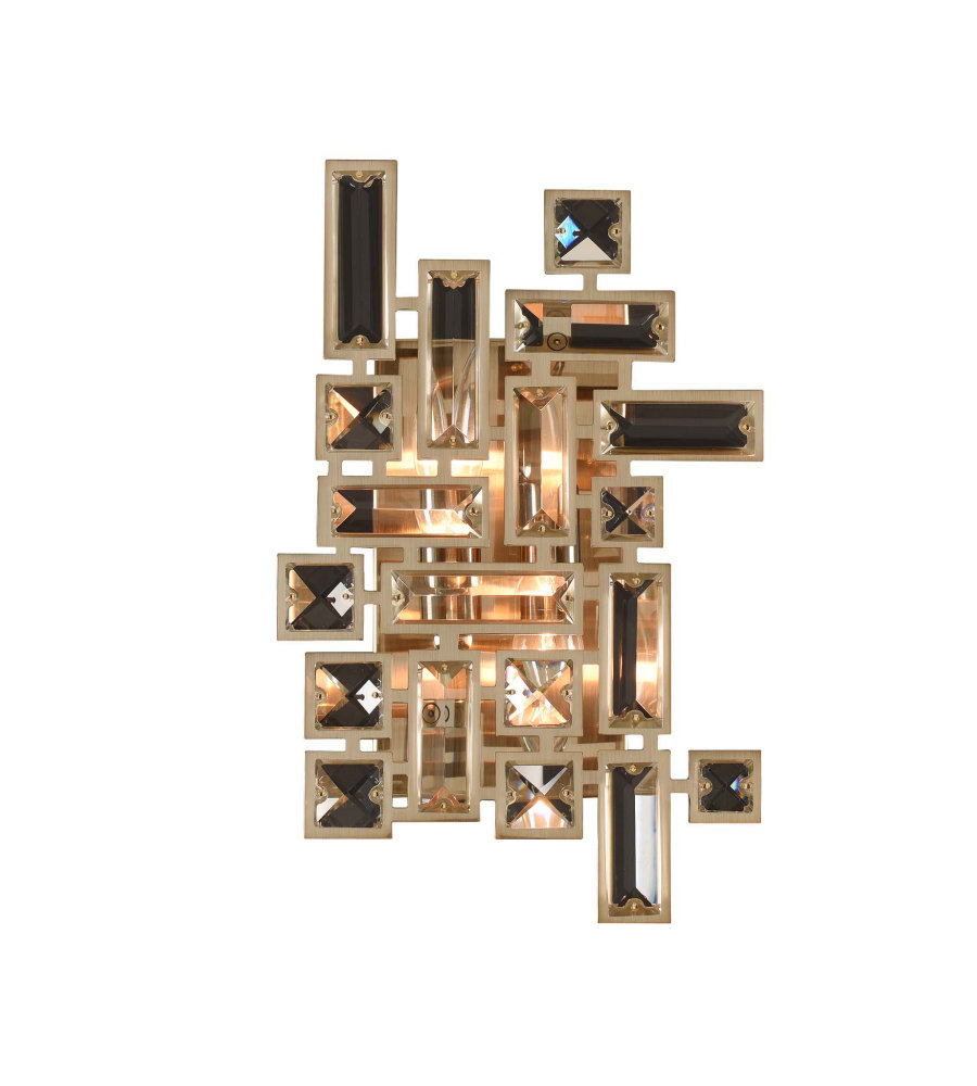 Allegri 11191 vermeer 2 light wall bracket wchrome in brushed allegri 11191 vermeer 2 light wall bracket wchrome in brushed champagne gold foundrylighting aloadofball Images