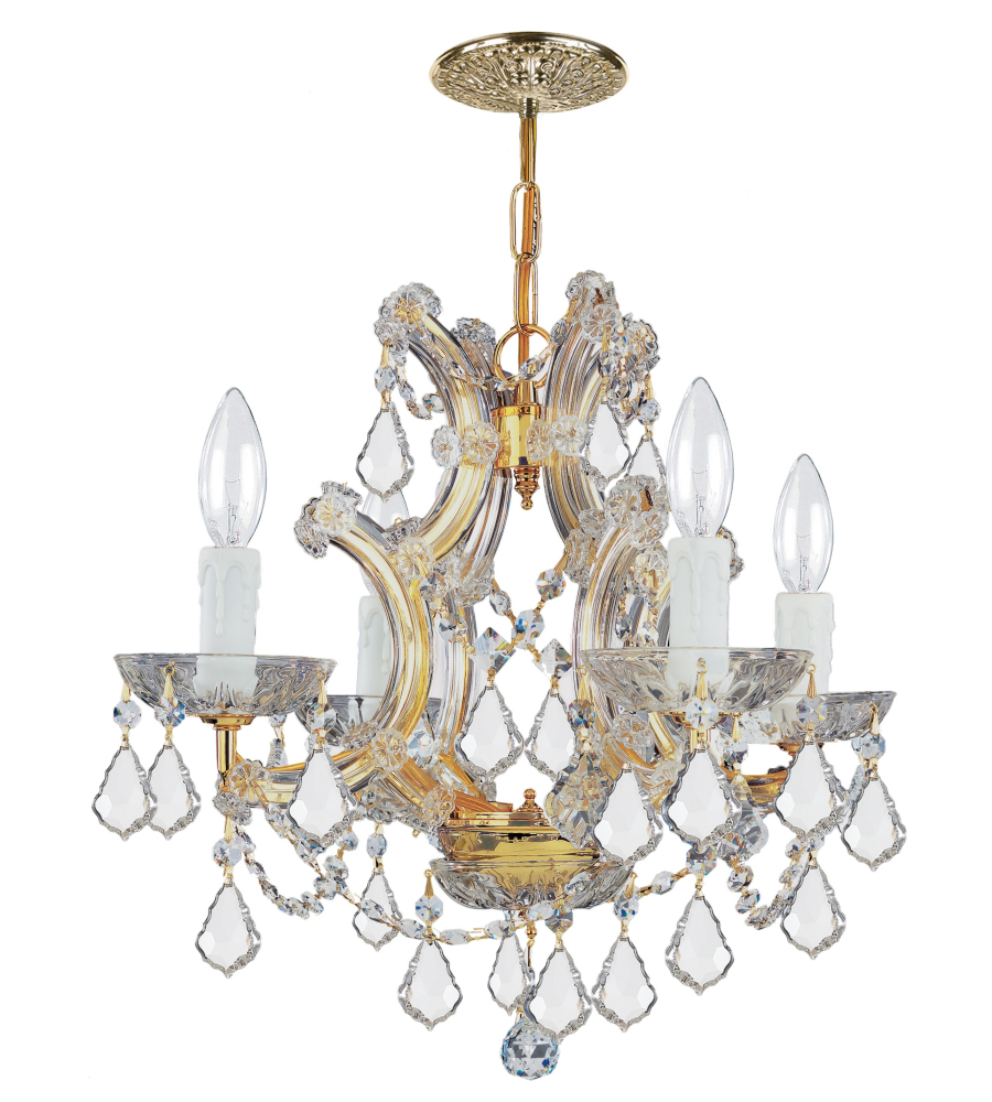 Crystorama 4474 gd cl mwp maria theresa 4 light mini chandelier in crystorama 4474 gd cl mwp maria theresa 4 light mini chandelier in gold foundrylighting mozeypictures Image collections