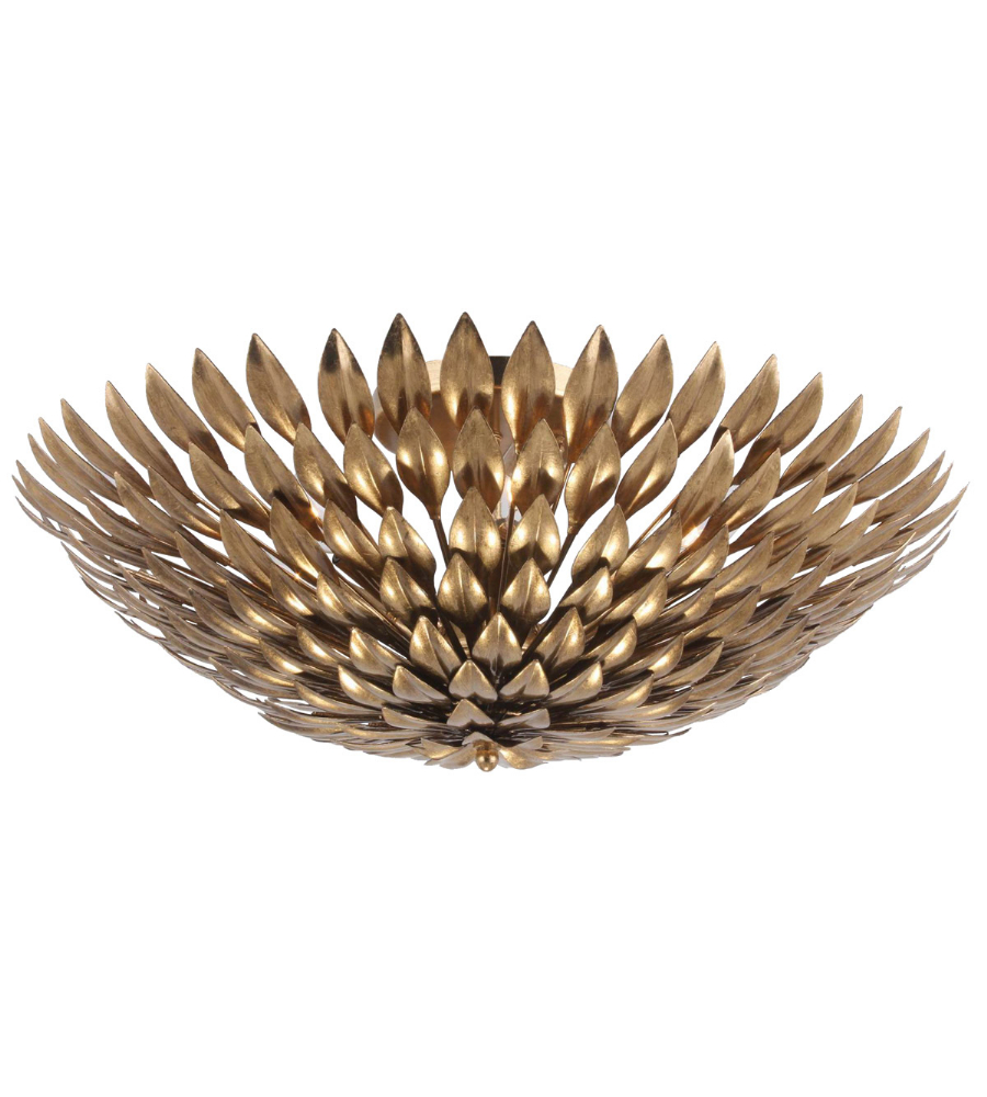 Crystorama 507 GA CEILING Broche 6 Light Semi Flush Mount