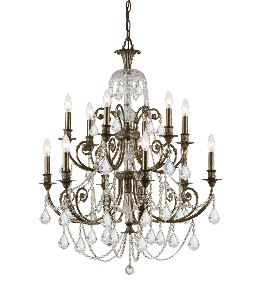 Crystorama 5119 eb cl s regis 12 light chandelier in english bronze crystorama 5119 eb cl s regis 12 light chandelier in english bronze foundrylighting aloadofball Image collections