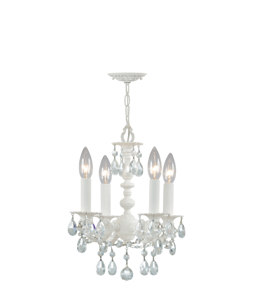 Crystorama 5514 ww cl mwp paris market 4 light mini chandeliers in crystorama 5514 ww cl mwp paris market 4 light mini chandeliers in wet white foundrylighting arubaitofo Images