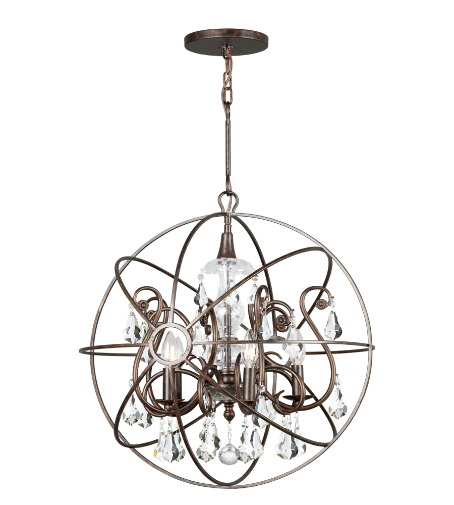 Crystorama 9026 eb cl mwp solaris 5 light chandelier in english crystorama 9026 eb cl mwp solaris 5 light chandelier in english bronze foundrylighting aloadofball Images