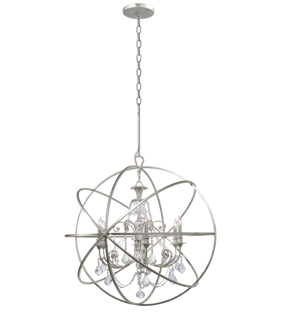 Crystorama 9219 os cl mwp solaris 6 light chandelier in olde silver crystorama 9219 os cl mwp solaris 6 light chandelier in olde silver foundrylighting aloadofball Images