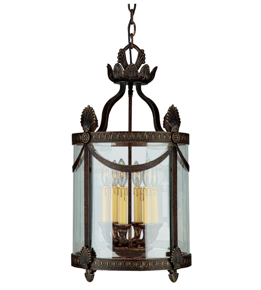 Foyer Lighting Lantern Style : Crystorama es orleans light foyer lantern in