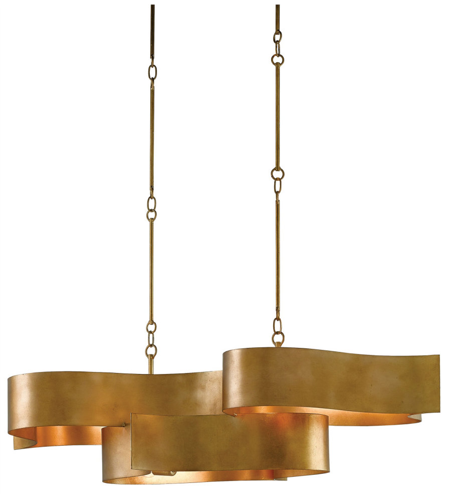 Currey Company 9000 0046 Grand Lotus Oval Chandelier In Antique Gold Leaf Foundrylighting Com