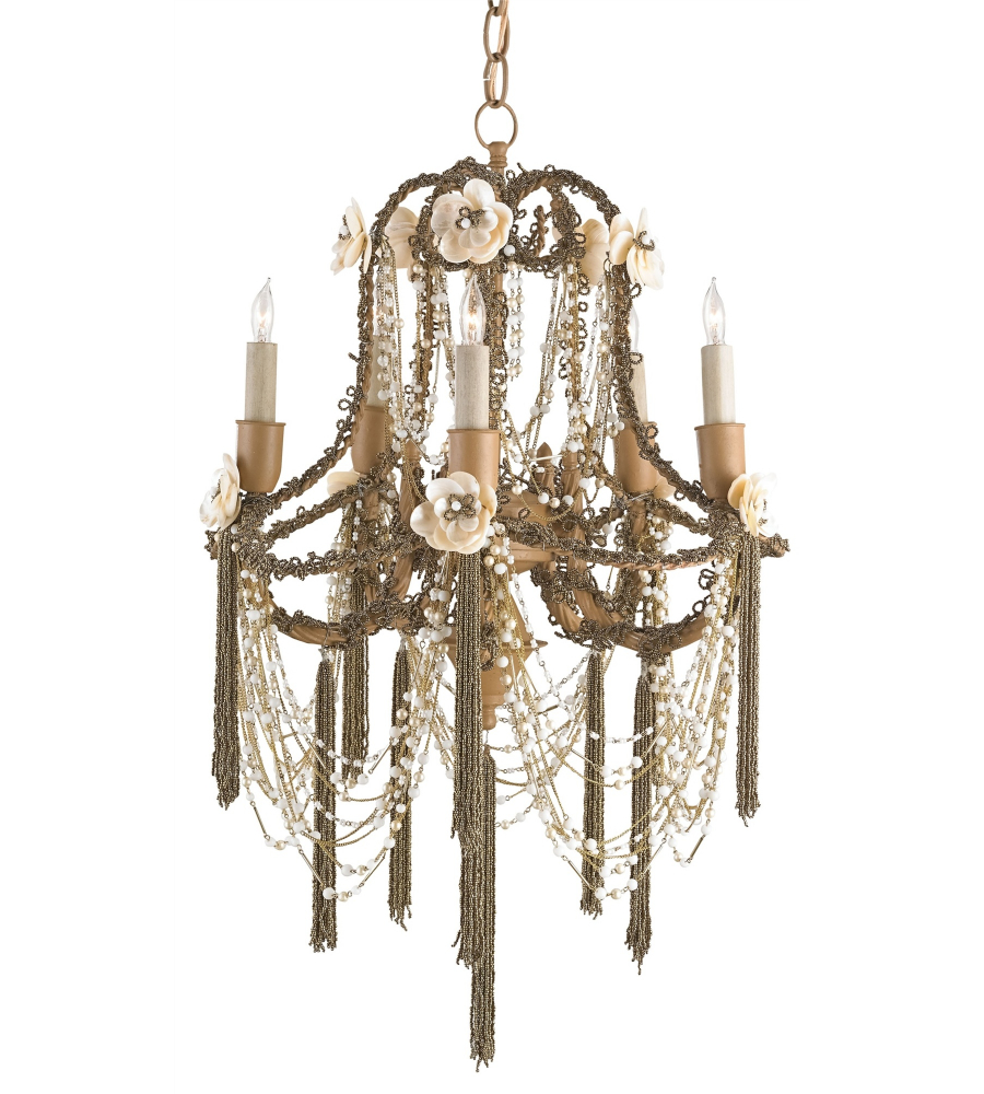 Currey And Company Coral Chandelier: Currey And Company 9535 Padma Chandelier In Jaipur Gold