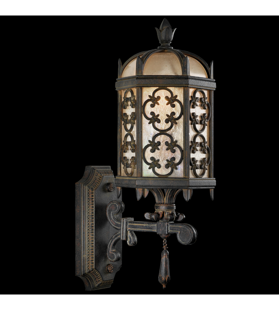 fine art lamps 329881st costa del sol 1 light outdoor wall mount in