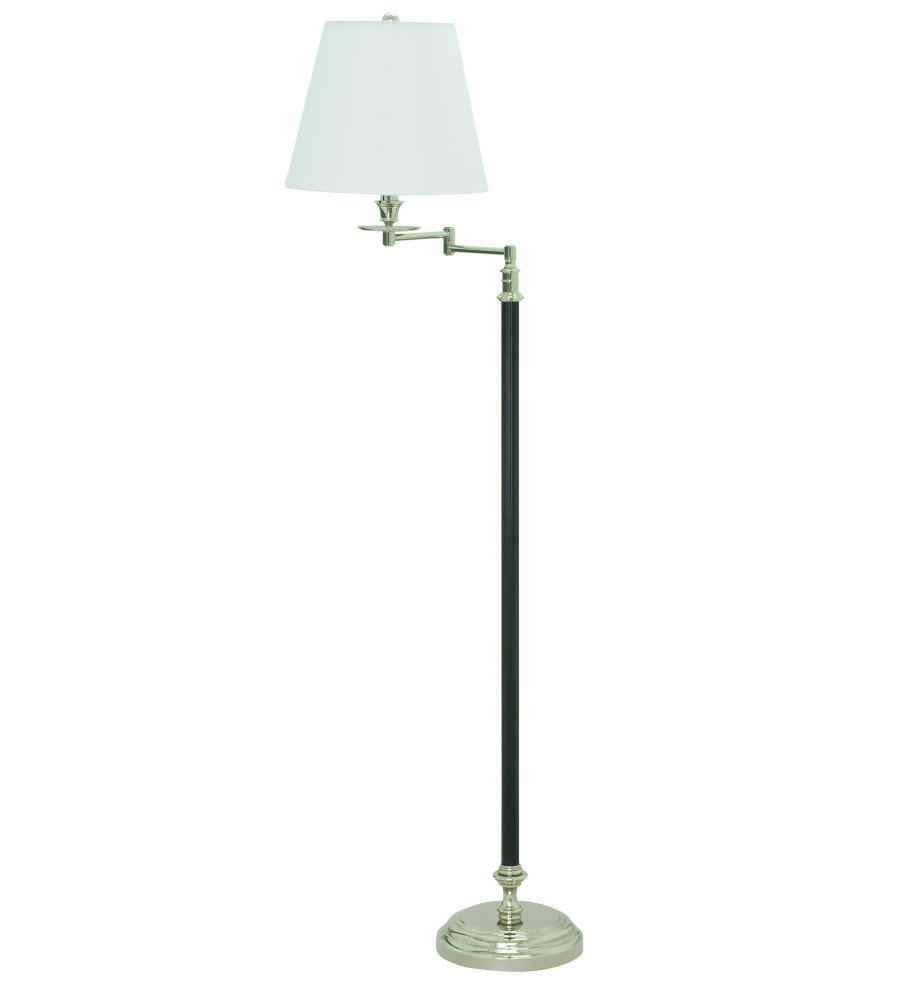 House of troy b501 bpn 1 light bennington 61 black and polished house of troy b501 bpn 1 light bennington 61 black and polished nickel swing arm floor lamp in black with polished nickel foundrylighting mozeypictures Image collections