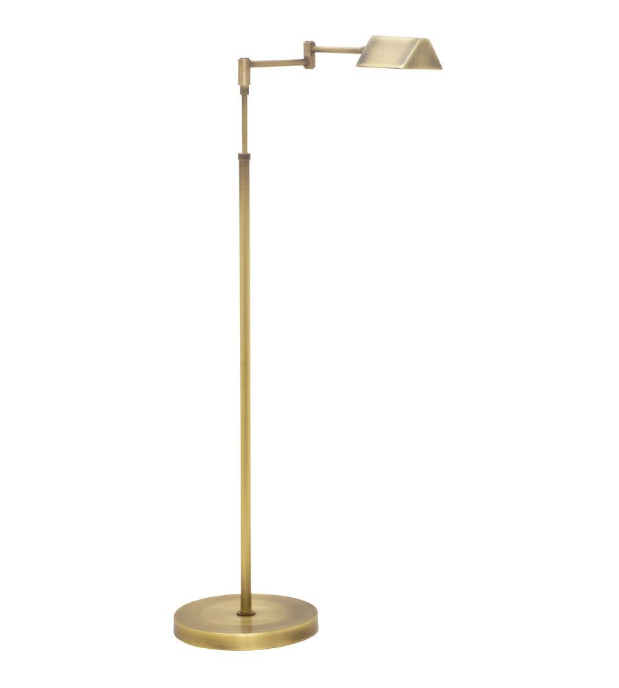 House Of Troy D100 AB 1 Light Delta Led Task Floor Lamp In Antique Brass