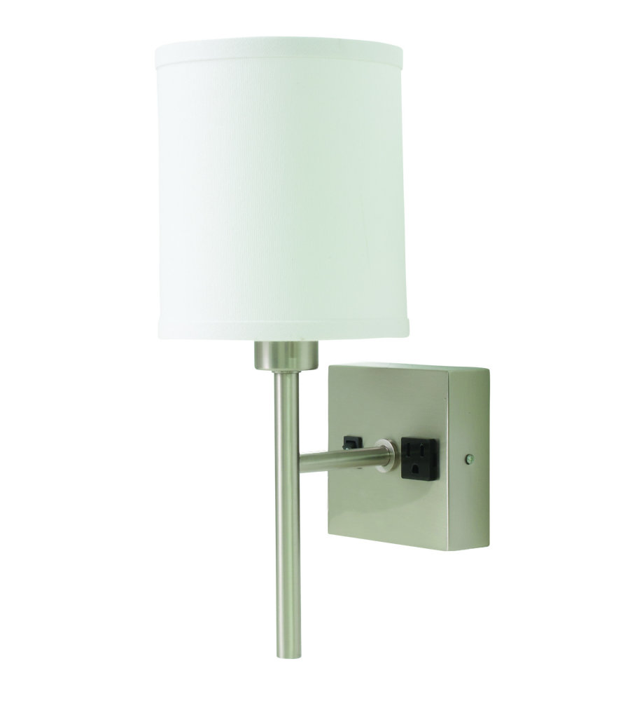 House Of Troy Wl625-Sn 1 Light Wall Lamp In Satin Nickel With ...
