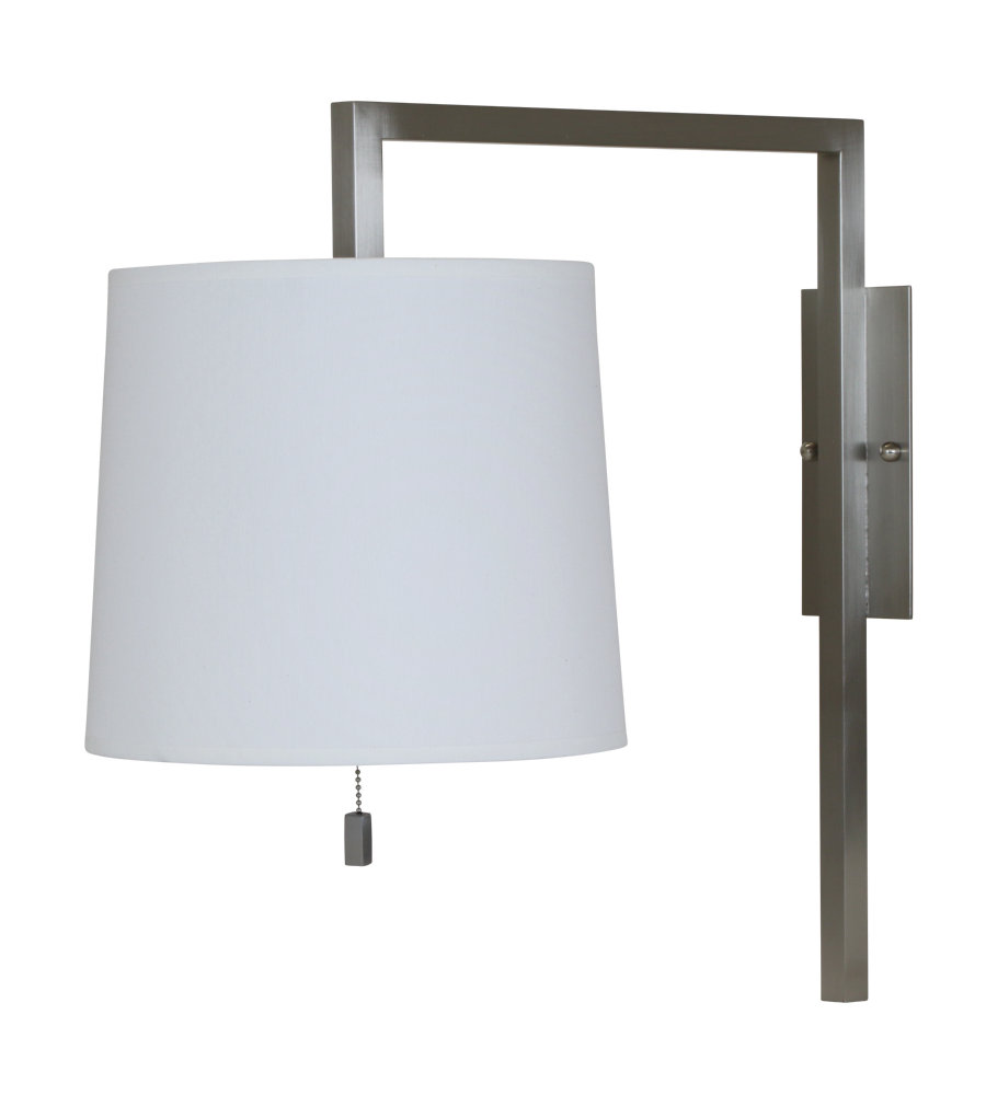 house of troy wl630 sn 1 light pin up wall lamp in satin nickel in
