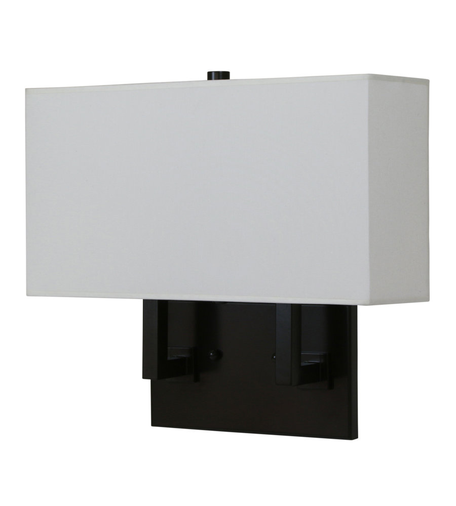 House Of Troy Wl632-Abz 2 Light Direct Wire Ada Wall Sconce In ...