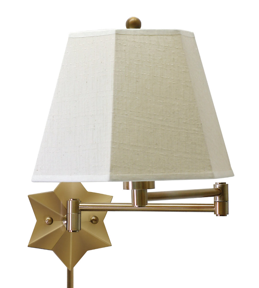 swing arm light. House Of Troy Ws751-Ab 1 Light Wall Swing Arm Lamp In Antique Brass | FoundryLighting.com T