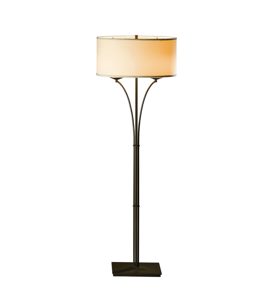 Hubbardton forge 232720 led 05 sf1914 2 light contemporary formae hubbardton forge 232720 led 05 sf1914 2 light contemporary formae floor lamp in bronze foundrylighting aloadofball Choice Image