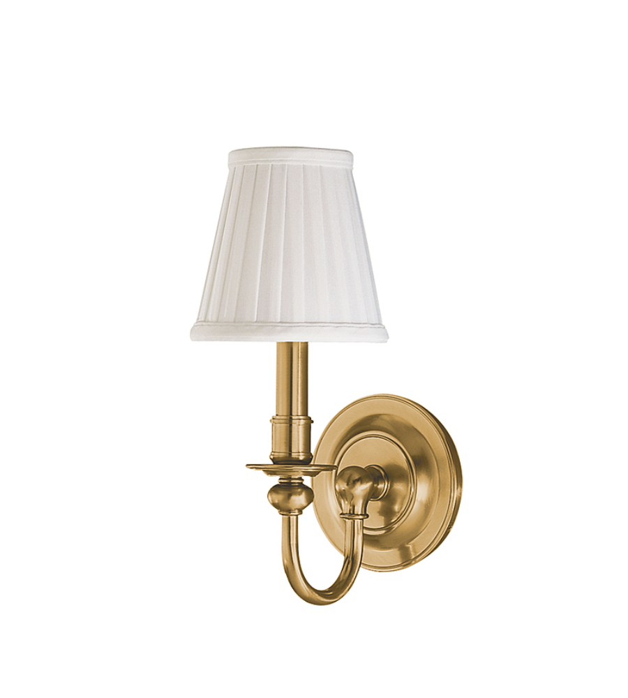 hudson valley lighting 1901 agb beekman 1 light wall sconce in aged. Black Bedroom Furniture Sets. Home Design Ideas
