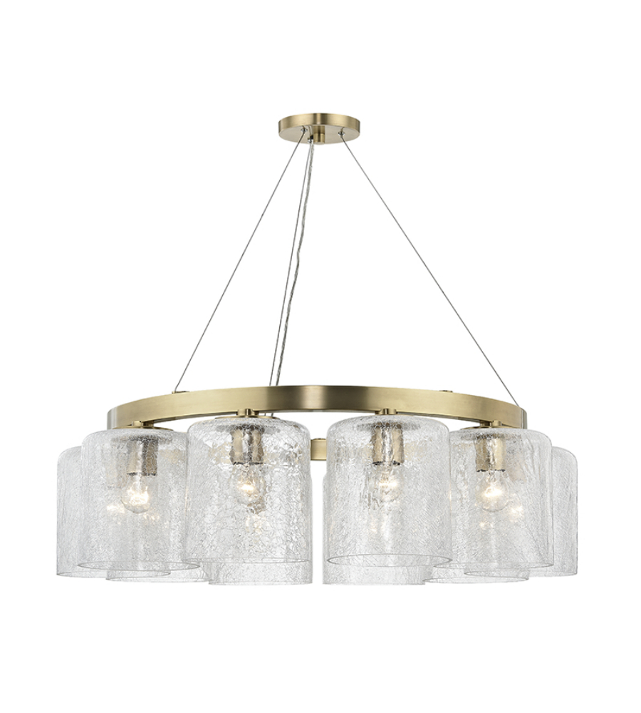Hudson Valley 3234 Agb Charles 10 Light Chandelier In Aged Brass Foundrylighting Com