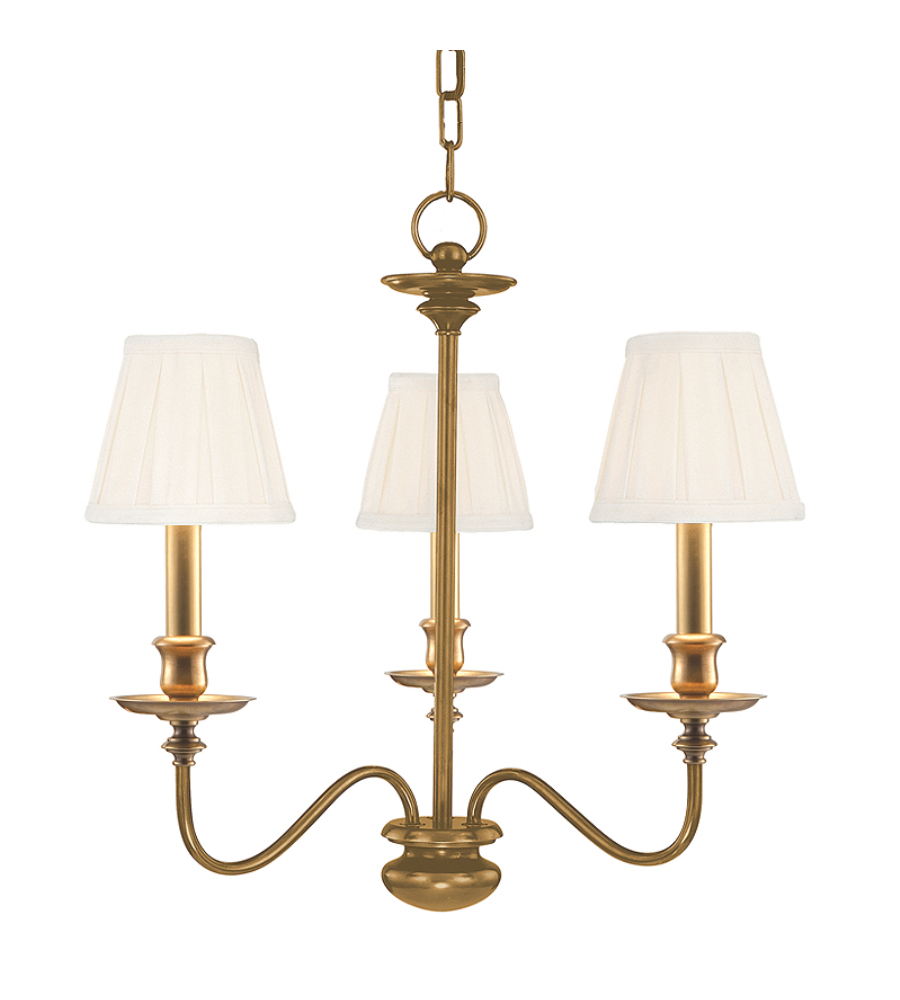 Hudson Valley 4033 Agb Menlo Park 3 Light Chandelier In Aged Brass Foundrylighting Com