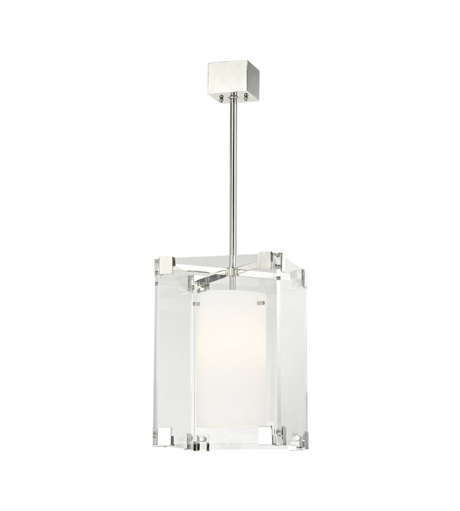hudson valley 4125 pn achilles 1 light small pendant in polished