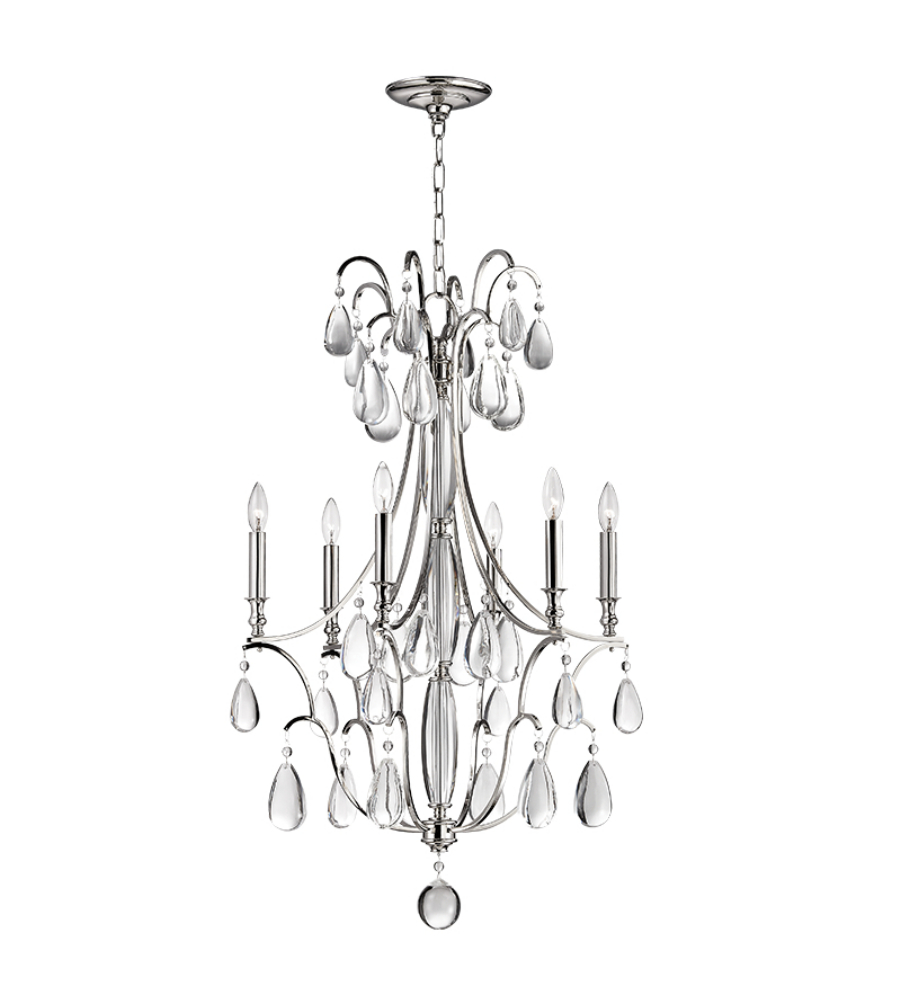 Hudson valley 9324 pn crawford 6 light chandelier in polished nickel hudson valley 9324 pn crawford 6 light chandelier in polished nickel foundrylighting arubaitofo Choice Image