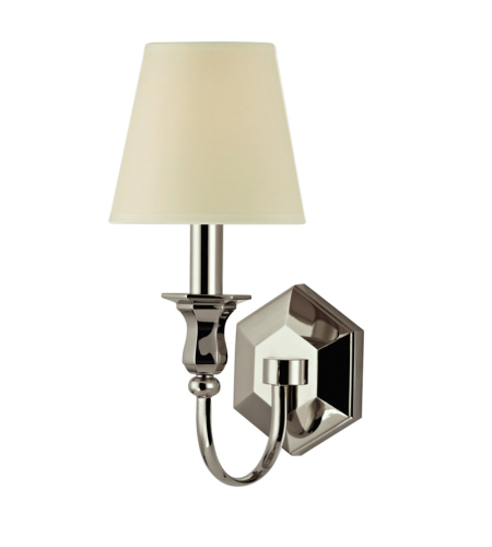 hudson valley lighting 1411 ob ws charlotte 1 light wall sconce in old. Black Bedroom Furniture Sets. Home Design Ideas
