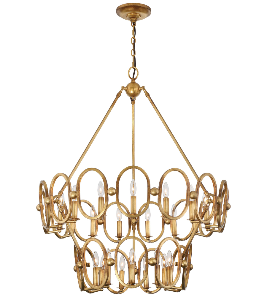 Metropolitan N6889 293 Pandora Gold Leaf Twenty Four Light Chandelier Foundrylighting Com