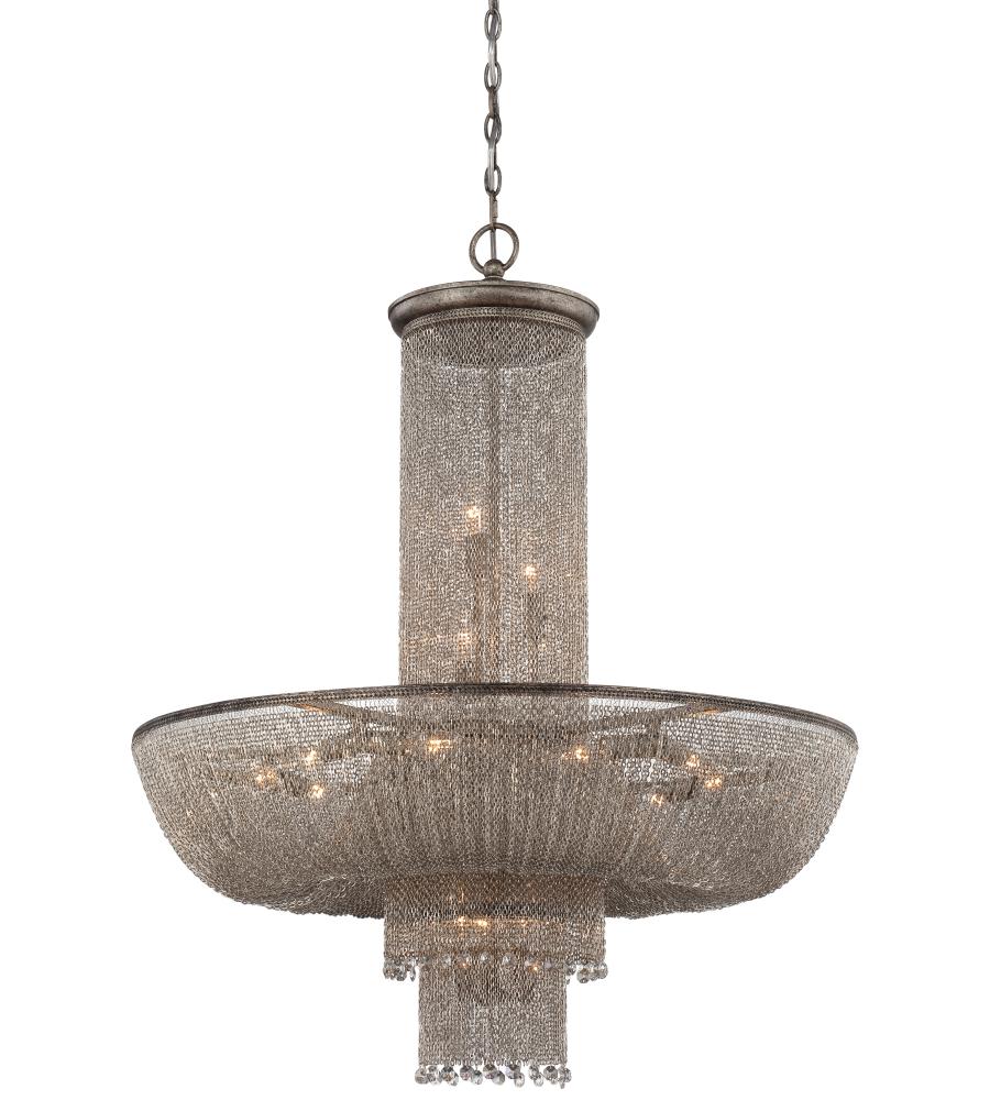 Metropolitan n7218 578 antique silver 16 light chandelier metropolitan n7218 578 antique silver 16 light chandelier foundrylighting aloadofball Images