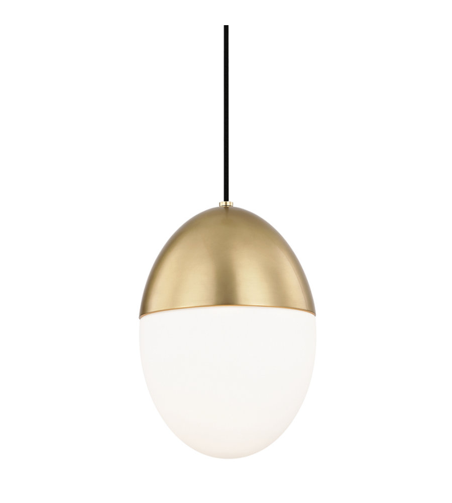 pendant light brass amber orion in