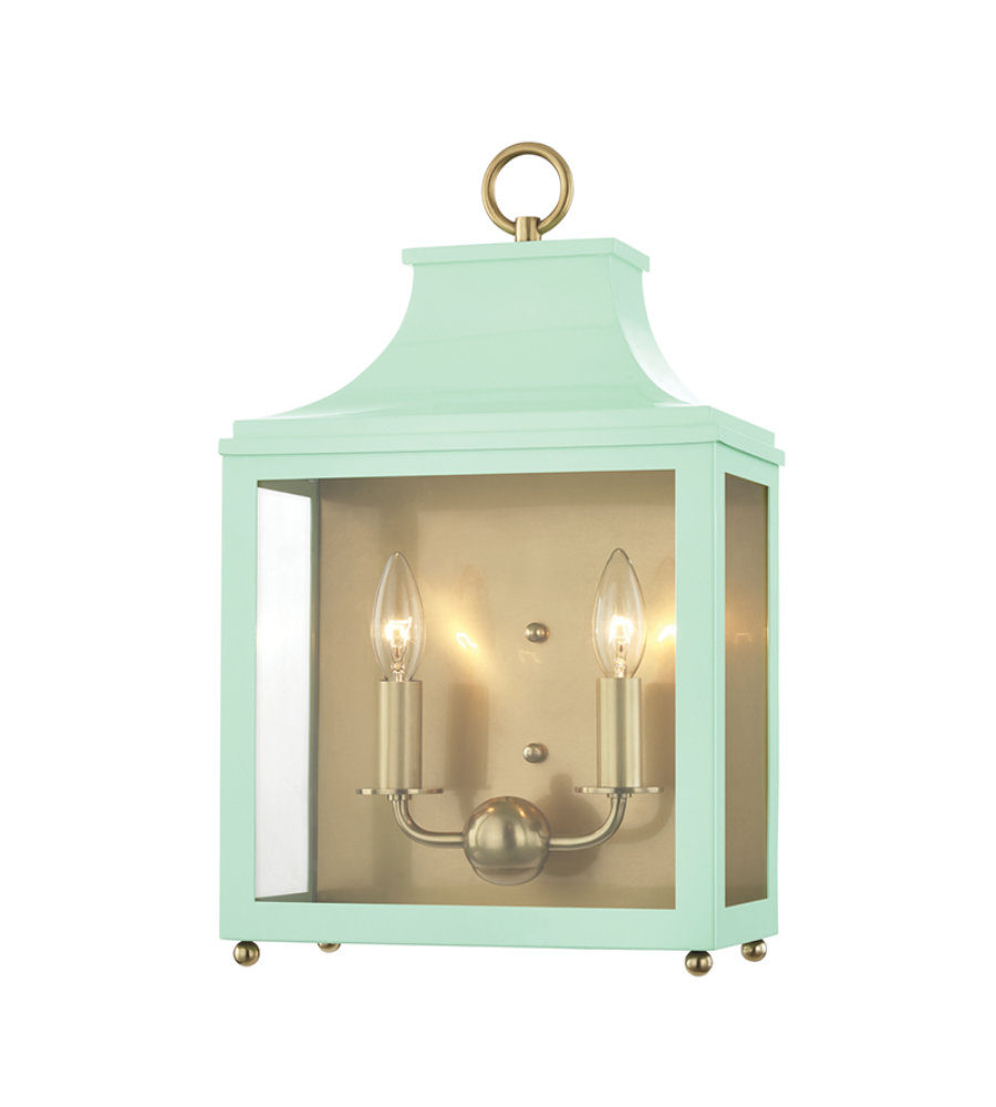 Mitzi® By Hudson Valley H259102-Agb/Mnt Leigh 2 Light Wall Sconce In ...