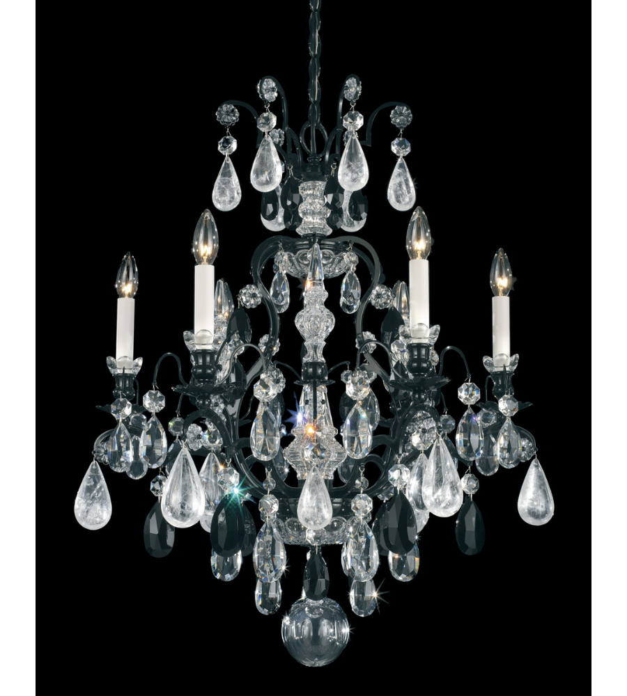 Schonbek 3570 55bk renaissance rock crystal renaissance rock 7 light schonbek 3570 55bk renaissance rock crystal renaissance rock 7 light chandelier in wet black and jet black rock crystal colors trim foundrylighting mozeypictures Images