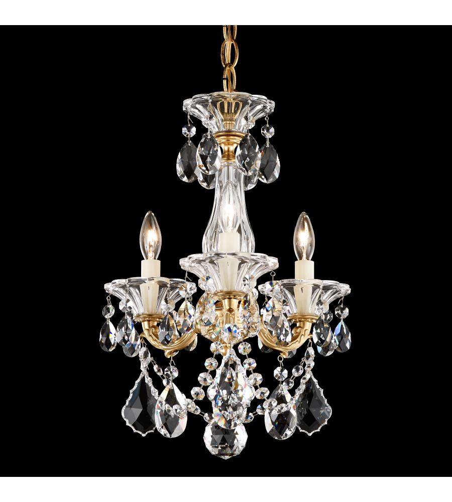 Schonbek 5343 22 la scala 3 light 110v chandelier in heirloom gold schonbek 5343 22 la scala 3 light 110v chandelier in heirloom gold with clear heritage crystal foundrylighting aloadofball Images
