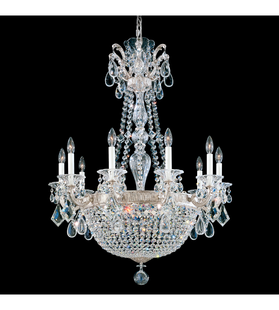 Schonbek 5080 27 la scala empire 15 light 110v chandelier in schonbek 5080 27 la scala empire 15 light 110v chandelier in parchment gold with clear heritage crystal foundrylighting aloadofball Images