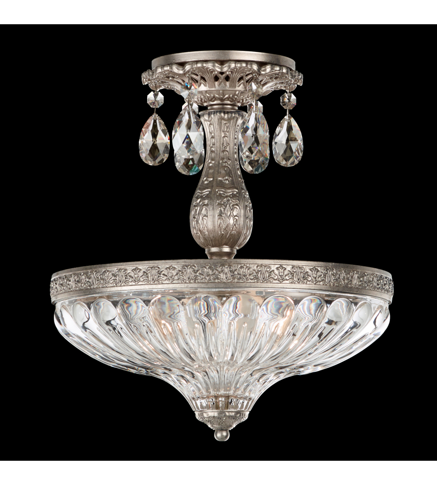 Schonbek 5645 22a milano 3 light 110v close to ceiling in heirloom schonbek 5645 22a milano 3 light 110v close to ceiling in heirloom gold with clear spectra crystal foundrylighting aloadofball Image collections