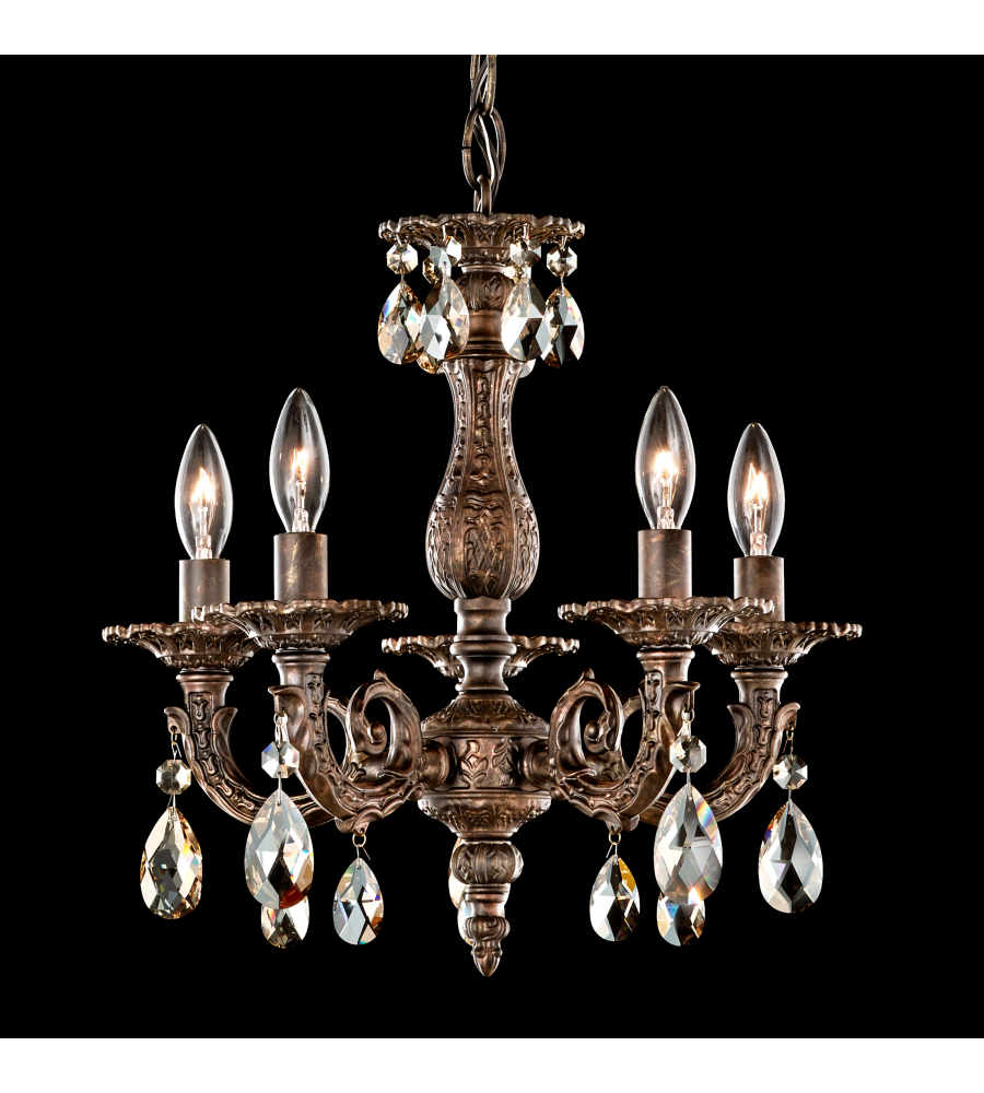 Schonbek 5662 23sh milano 5 light 110v chandelier in etruscan gold schonbek 5662 23sh milano 5 light 110v chandelier in etruscan gold with silver shade crystals from swarovski foundrylighting mozeypictures Gallery
