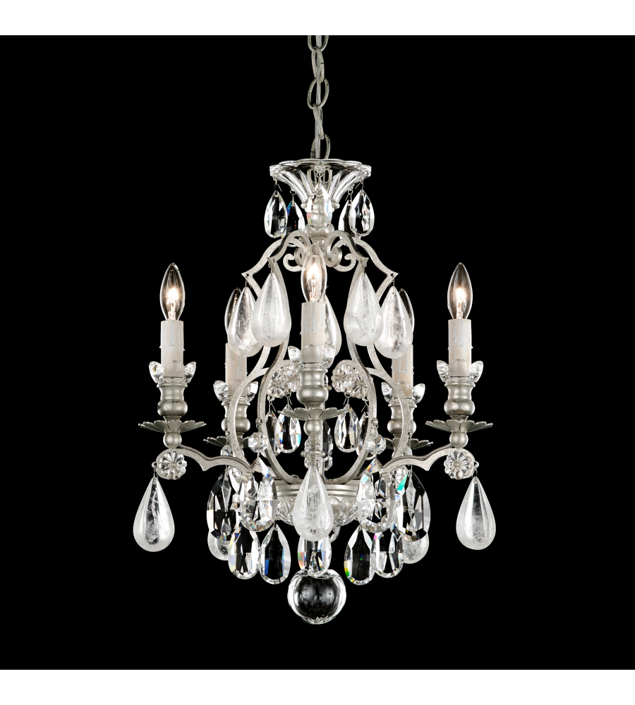 Schonbek 3569 47os renaissance rock crystal 5 light 110v chandelier schonbek 3569 47os renaissance rock crystal 5 light 110v chandelier in antique pewter with olivine and smoke topaz clear rock crystal colors aloadofball Images