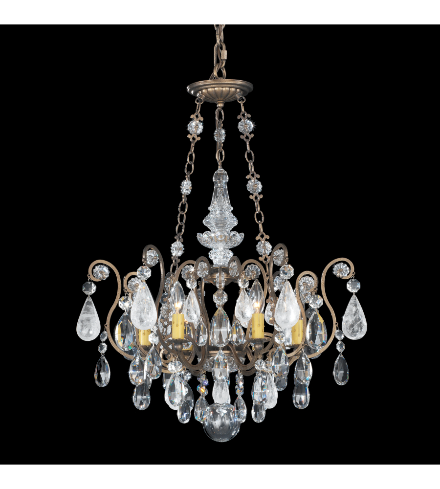 Schonbek 3586 48ad renaissance rock crystal 6 light 110v chandelier schonbek 3586 48ad renaissance rock crystal 6 light 110v chandelier in antique silver with amethyst and black diamond rock crystal colors foundrylighting aloadofball Choice Image