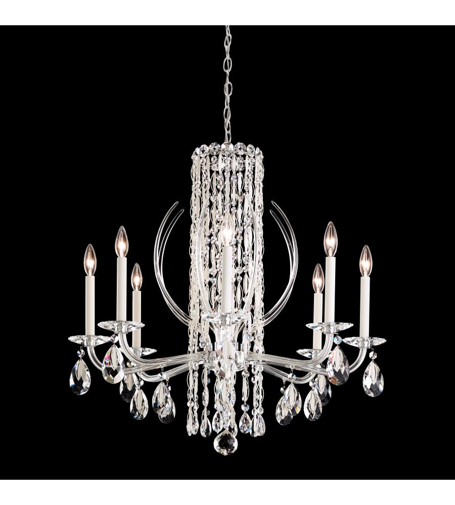 Schonbek rs8308n 401h sarella 8 light 110v chandelier in stainless schonbek rs8308n 401h sarella 8 light 110v chandelier in stainless steel with crystal heritage crystal foundrylighting aloadofball Images