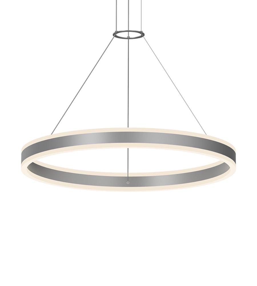 Sonneman double corona 230516 2 light 32 led ring pendant in sonneman double corona 230516 2 light 32 led ring pendant in bright satin aluminum foundrylighting aloadofball Gallery