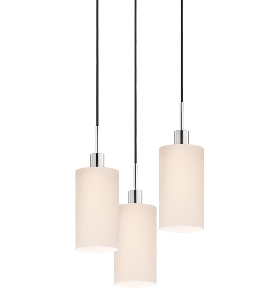 lighting pendants glass. Sonneman Glass Pendants 3560.01k-3 3 Light Cylinder 3-Light Pendant In Polished Chrome | FoundryLighting.com Lighting C