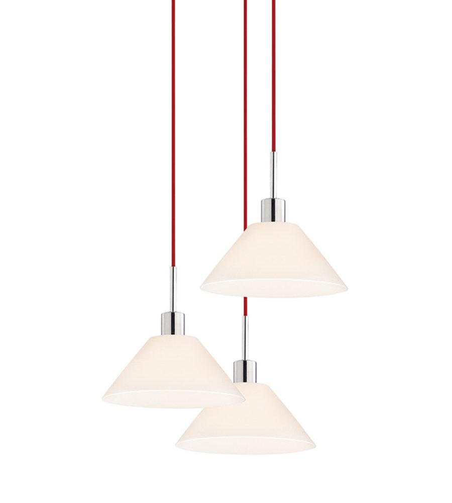 Sonneman glass pendants 356301r 3 3 light cone 3 light pendant in sonneman glass pendants 356301r 3 3 light cone 3 light pendant in polished chrome foundrylighting aloadofball Gallery