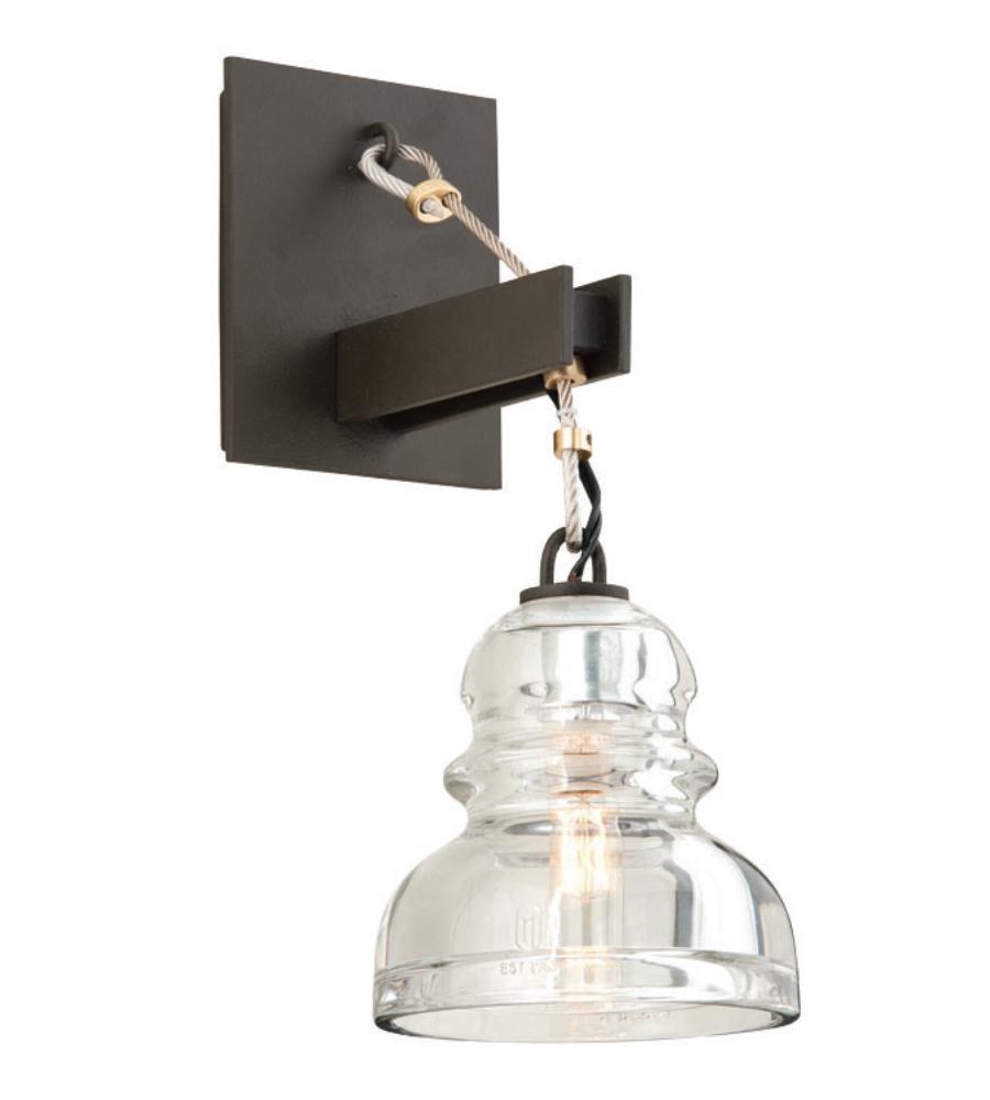 troy lighting b3971 menlo park deep bronze 1 light wall sconce. Black Bedroom Furniture Sets. Home Design Ideas