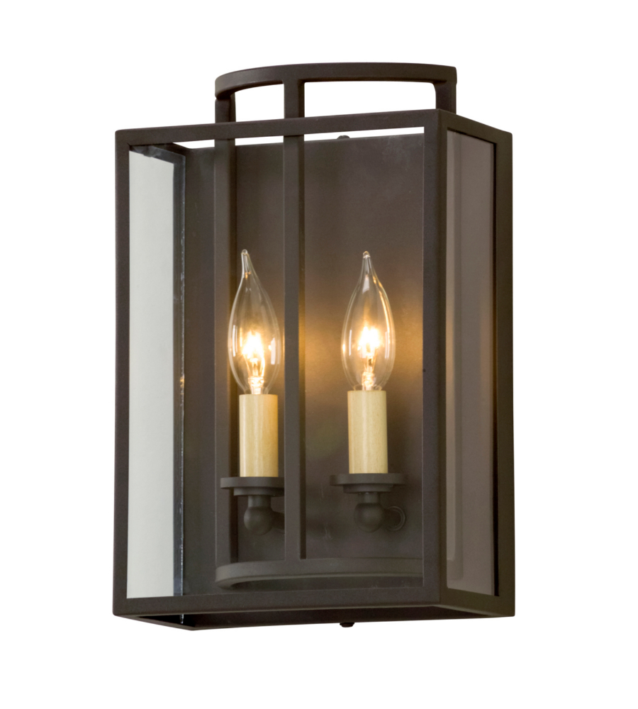 Troy Lighting B5342 Maddox 2 Light Wall Sconce In Textured Bronze ...