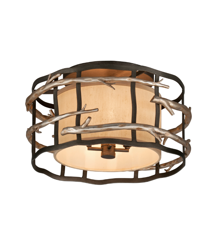 troy lighting c2881 adirondack 4 light semi flush mount in graphite