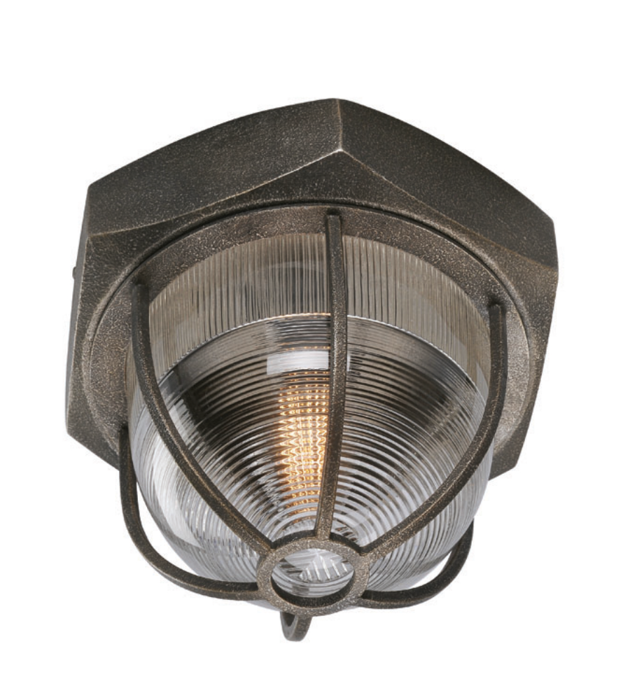 Troy Lighting C3891 Acme 1 Light Flush Mount In Aged