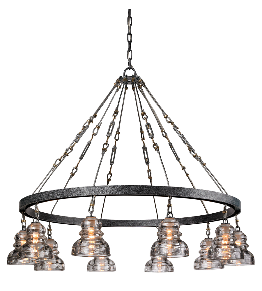 Troy lighting f3137 menlo park 10 light chandelier in old silver troy lighting f3137 menlo park 10 light chandelier in old silver foundrylighting arubaitofo Images