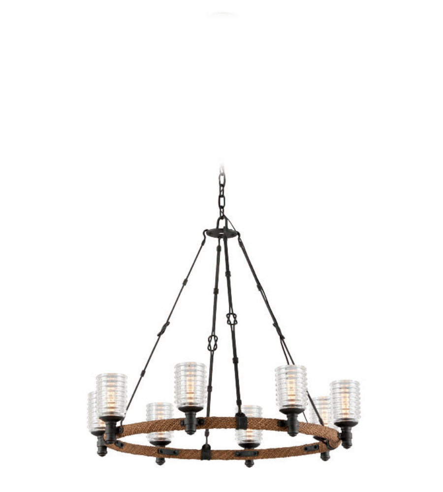 Troy Lighting F4156 Embarcadero 8 Light Chandelier