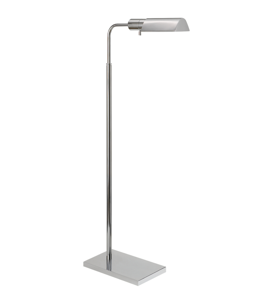 Visual comfort 91025 pn studio vc casual studio adjustable floor lamp in polished nickel