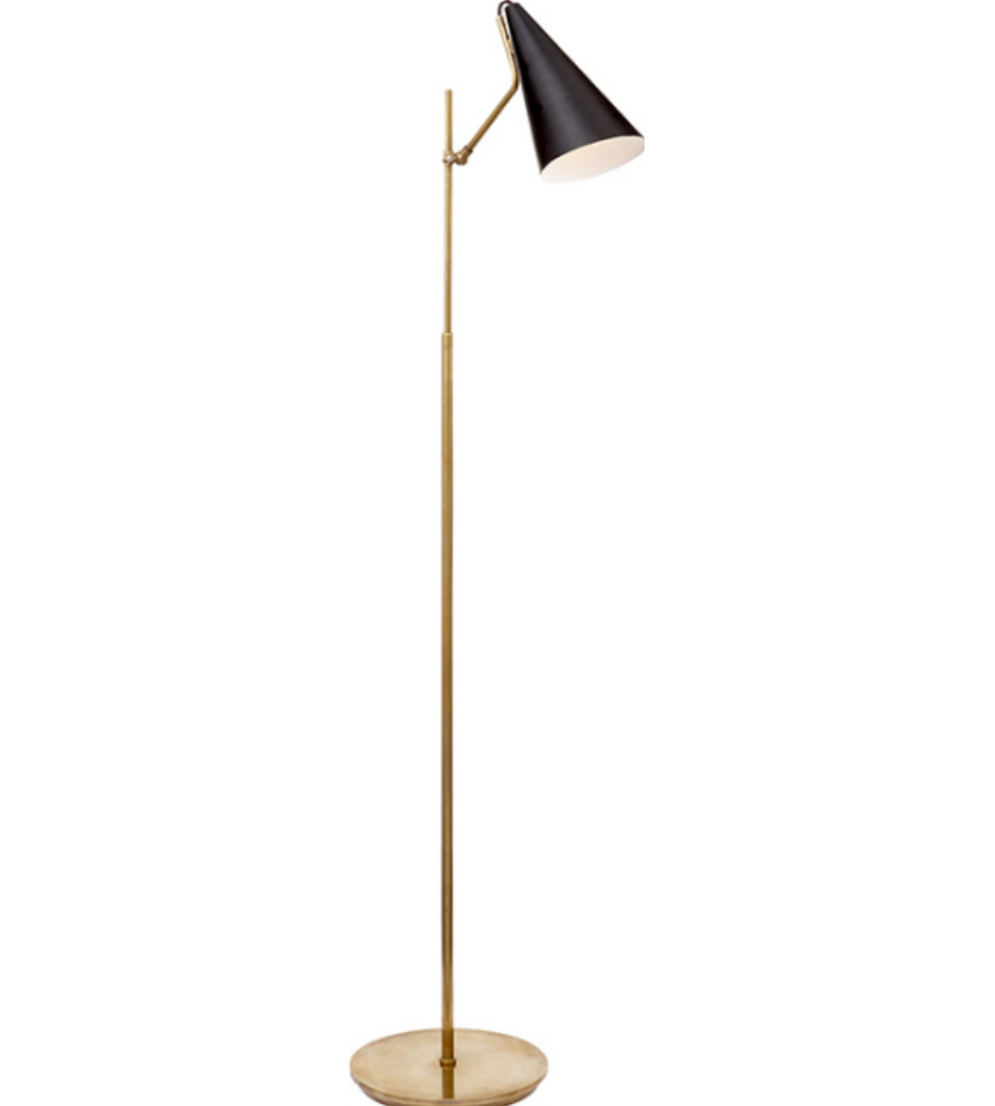 Visual comfort arn 1010hab blk aerin modern clemente floor lamp in visual comfort arn 1010hab blk aerin modern clemente floor lamp in hand rubbed antique brass with black foundrylighting aloadofball Gallery