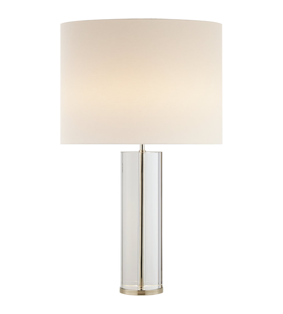 Visual comfort arn 3024cgpn l aerin modern lineham table lamp in visual comfort arn 3024cgpn l aerin modern lineham table lamp in crystal and polished nickel with linen shade foundrylighting mozeypictures Gallery