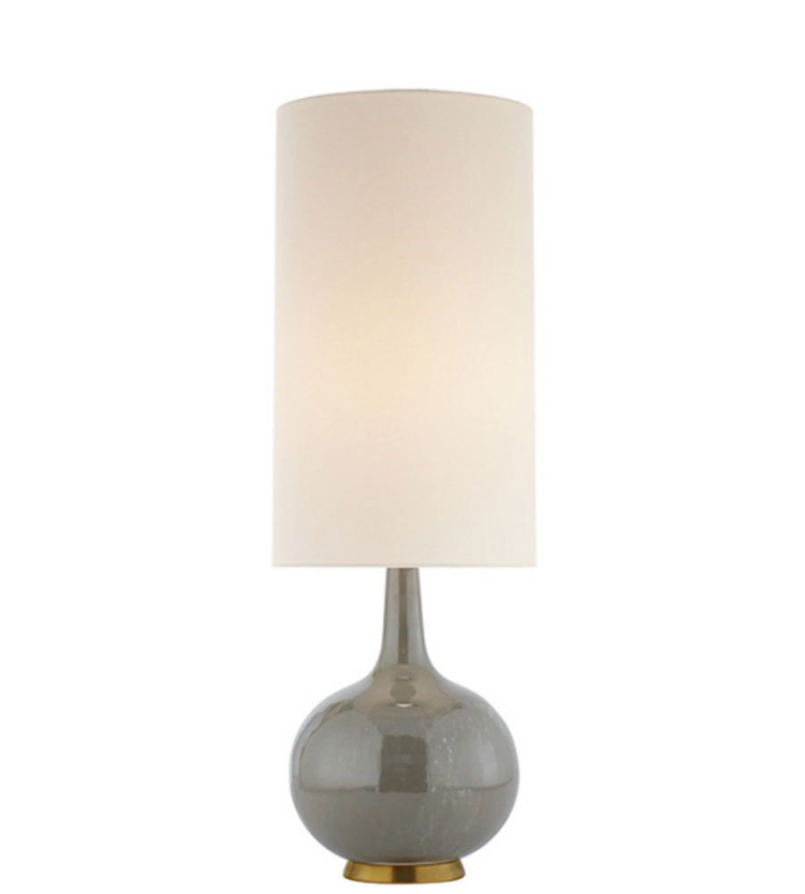 Visual comfort arn 3620shg l aerin casual hunlen table lamp in visual comfort arn 3620shg l aerin casual hunlen table lamp in shellish gray with linen shade foundrylighting aloadofball