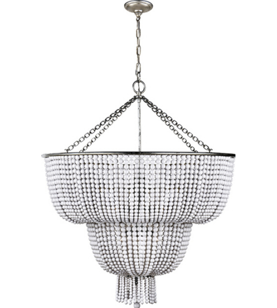 Visual comfort arn 5104bsl wg aerin traditional jacqueline two tier visual comfort arn 5104bsl wg aerin traditional jacqueline two tier chandelier in burnished silver leaf with white acrylic foundrylighting arubaitofo Image collections